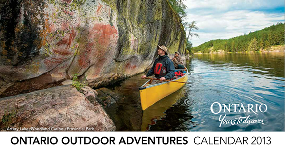 Free 2013 Ontario Outdoor Adventures Calendar