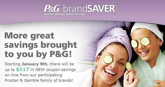 $117 New Coupon Savings at P&G BrandSaver