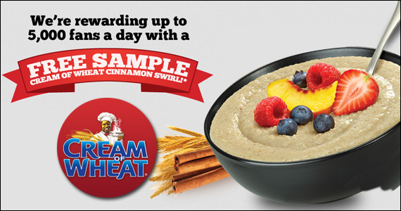 Get a Free Sample of Cream of Wheat Cinnamon Swirl