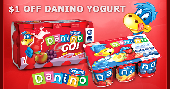 $1 off Danino Yogurt Coupon
