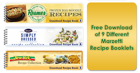 Free Download of 9 Different Marzetti Recipe Booklets