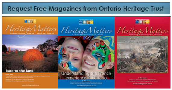 Request Free Magazines from Ontario Heritage Trust