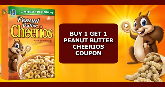 Buy 1 Get 1 Peanut Butter Cheerios Coupon