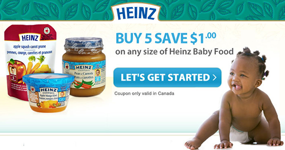 Save $1 on Heinz Baby Food