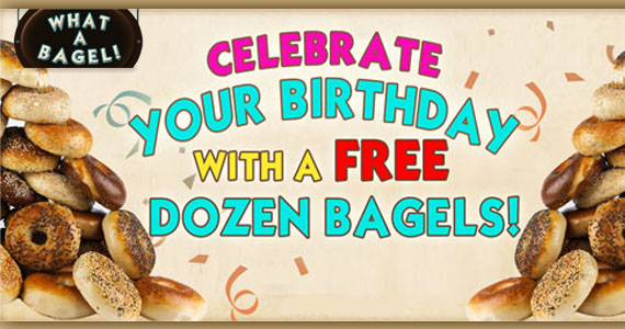Get a Free Dozen Bagels on Your Birthday