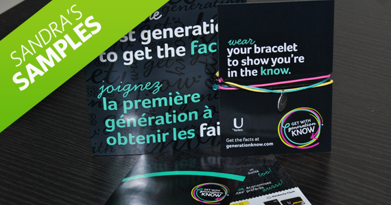 Sandra's Samples- U by Kotex Generations Know Bracelet