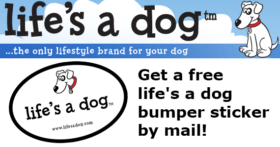 Free Life's a Dog Bumper Sticker