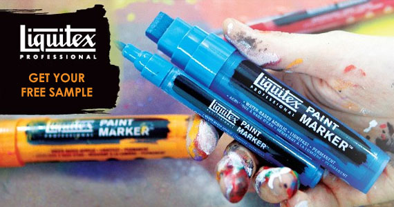Sample of Liquitex Paint Marker, Acrylic or Spray Paint