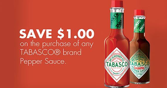 Save $1 off Any Tabasco Sauce
