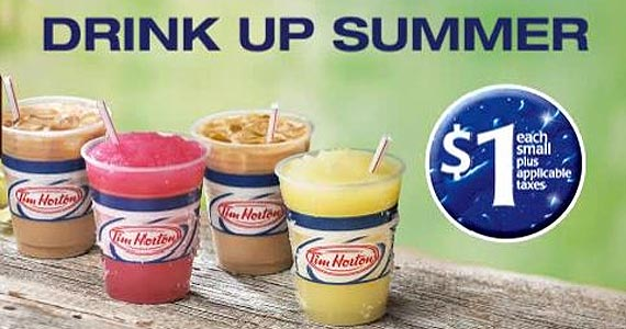 $1 Cold Drinks at Tim Hortons