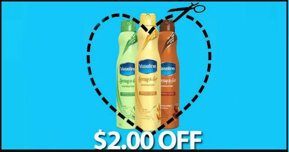 Save $2 off Vaseline Spray & Go Moisturizer
