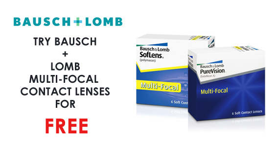 Try Bausch + Lomb Multi-Focal Contact Lenses for Free
