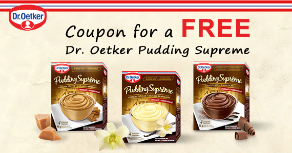 Coupon for a Free Dr. Oetker Pudding Suprême