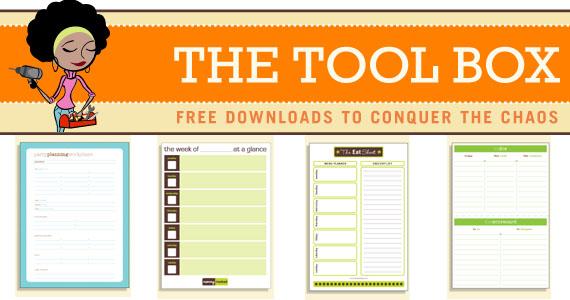 Free Downloadable Organization Sheets