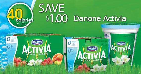 Save $1 on Danone Activia Yogurt