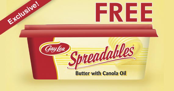 Free Gay Lea Spreadable Butter Coupon