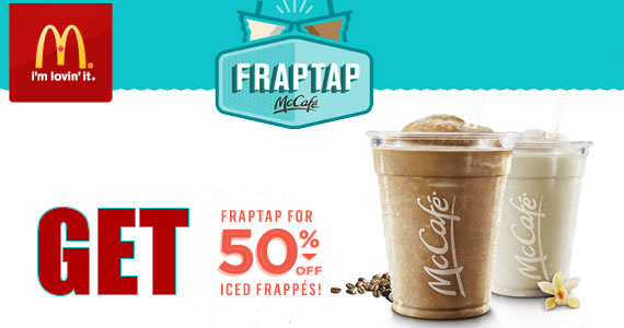 Get 50% off Iced Frappes at McDonald's