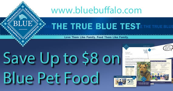 Save Up to $8 on Blue Pet Food