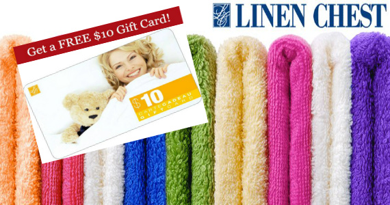 Free $10 Gift Card to Linen Chest