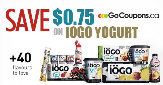 Save $0.75 on IÖGO Yogurt