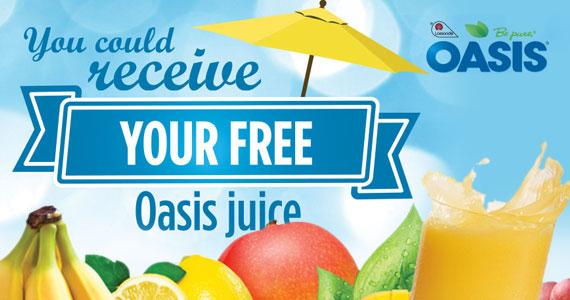 Get Free Oasis Juice