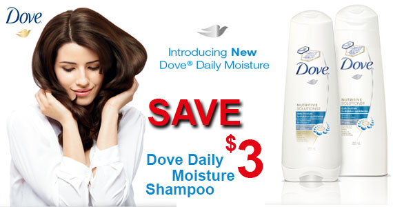 Save $3 on Dove Daily Moisture Shampoo