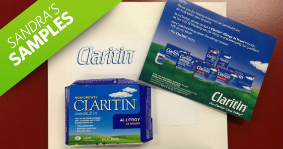 Sandra's Samples- Claritin Sample Box