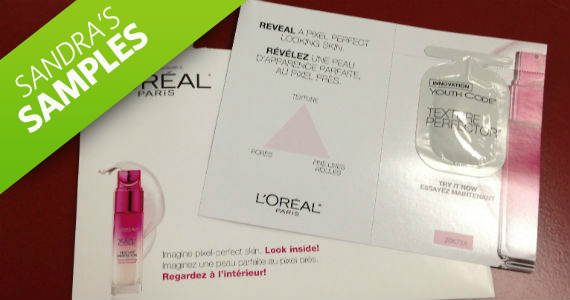 Sandra's Samples- Free L'Oreal Youth Code