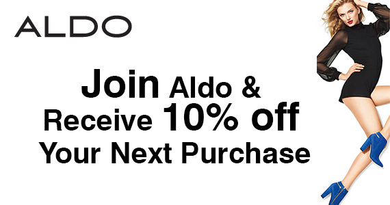 Join Aldo & Receive 10% off Your Next Purchase