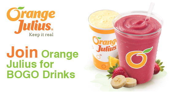 Join Orange Julius for BOGO Drinks