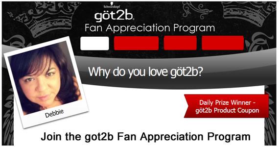 Join the göt2b Fan Appreciation Program