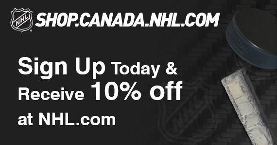 Sign Up Today & Receive 10% off at NHL.com