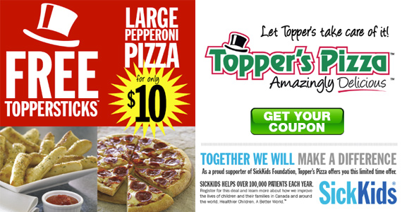 Free TopperSticks From Topper's Pizza