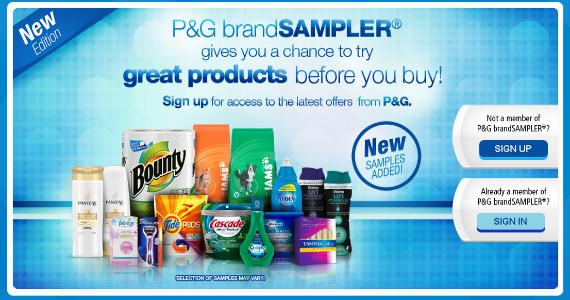 Get Great Samples from P&G BrandSampler
