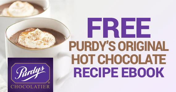 Free Purdy's Original Hot Chocolate Recipe eBook