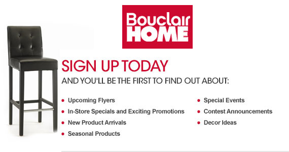 Sign Up With Bouclair Home