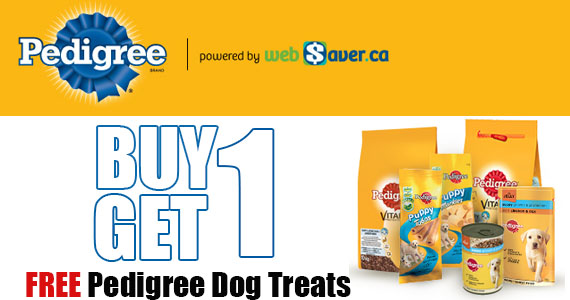 Buy 1 Pedigree Dog Treat & Get 1 FREE