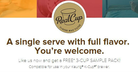 Free 3-Cup Real Cup Sample Pack
