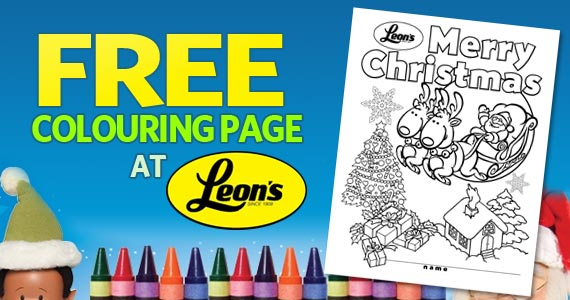 Free Colouring Page at Leons