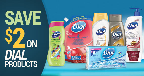Save $2 on Dial Products