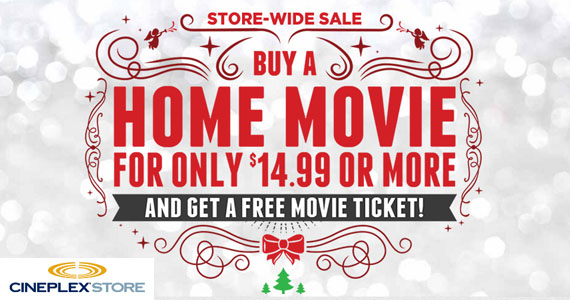 Free Movie Ticket When You Buy a DVD at Cineplex