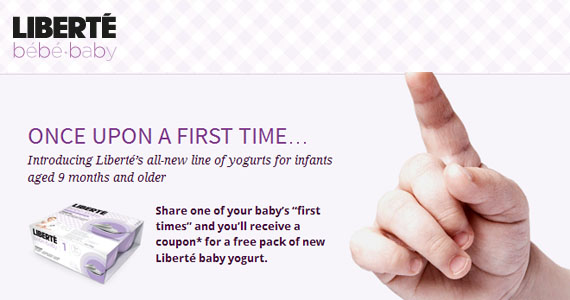 Get a Coupon for Free Liberte Baby Yogurt