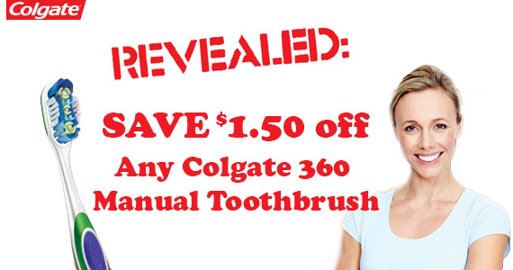 Save $1.50 off Any Colgate 360 Manual Toothbrush