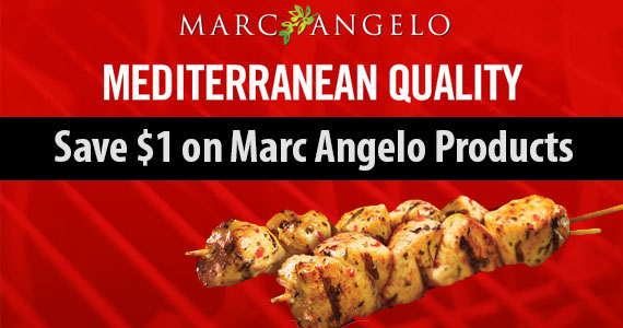 Save $1 on MarcAngelo Products