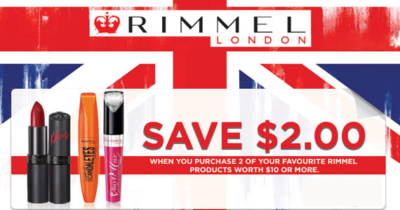 Save $2 on Rimmel Products
