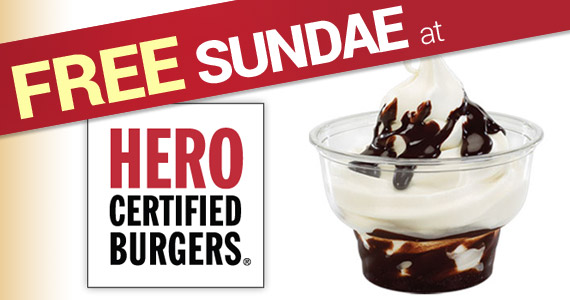 Free Sundae at Hero Burger