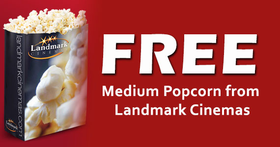 Free Medium Popcorn from Landmark Cinemas
