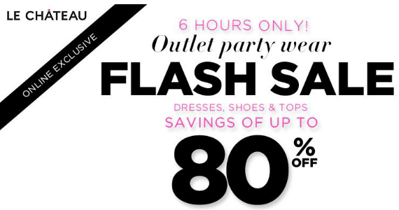 Save Up To 80% At Le Chateau