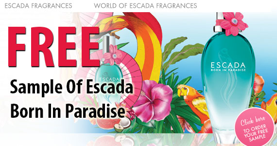 Free Sample of Escada Born In Paradise
