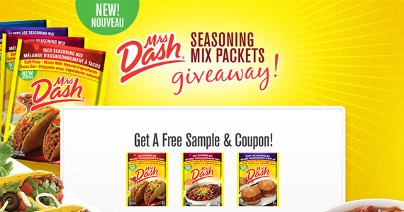 Free Sample of Mrs. Dash Seasoning